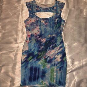 Watercolor Midi Bodycon Dress